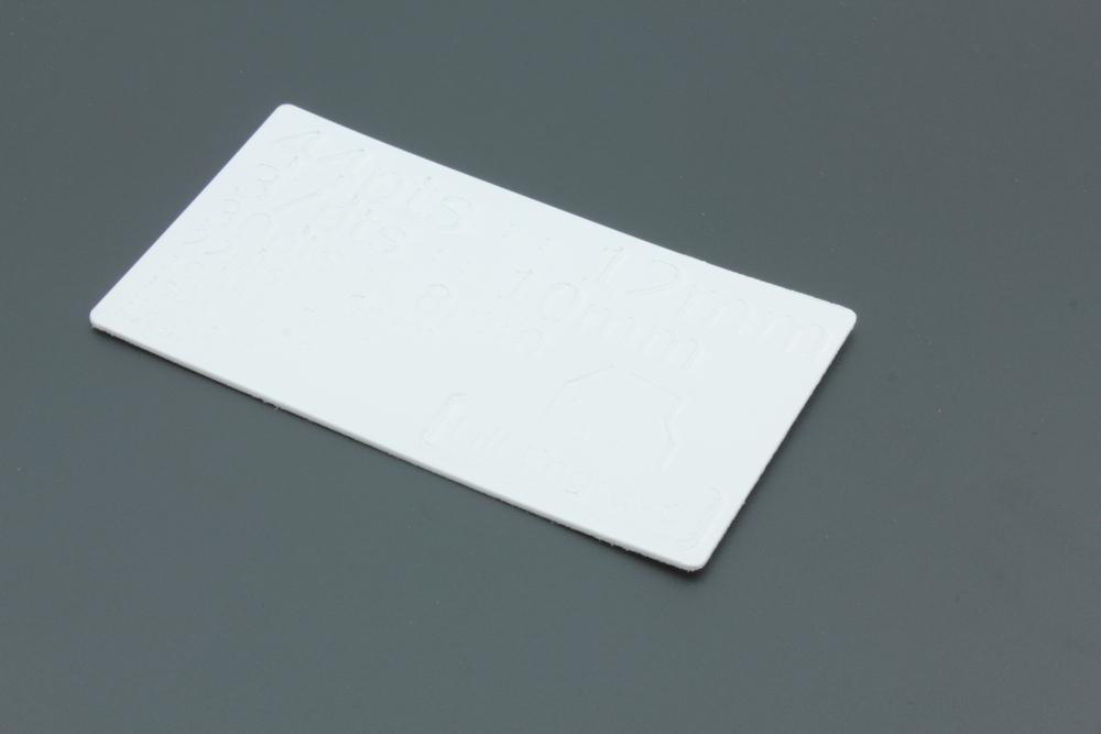 Styrene 1mm White - Fill Engrave