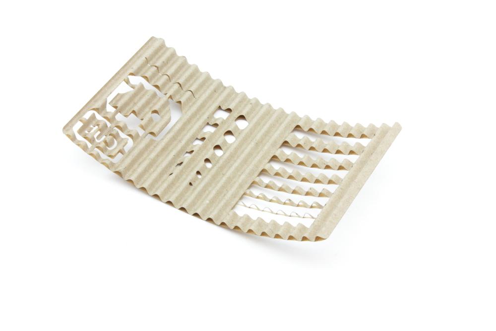 Corrugated cardboard 2,6mm - Cut - Backside