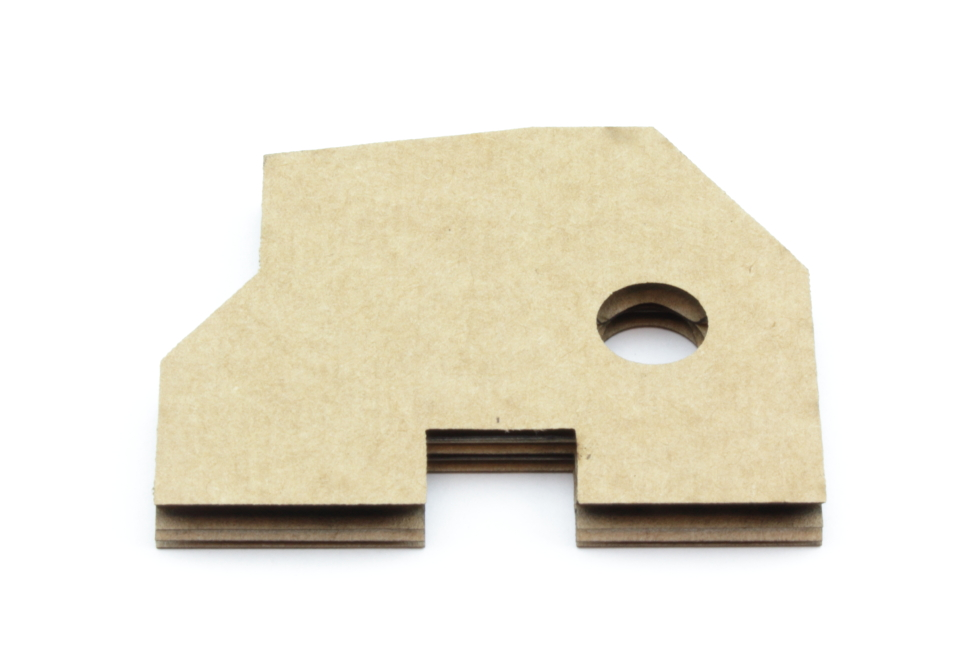 Corrugated cardboard 6,9mm - Back