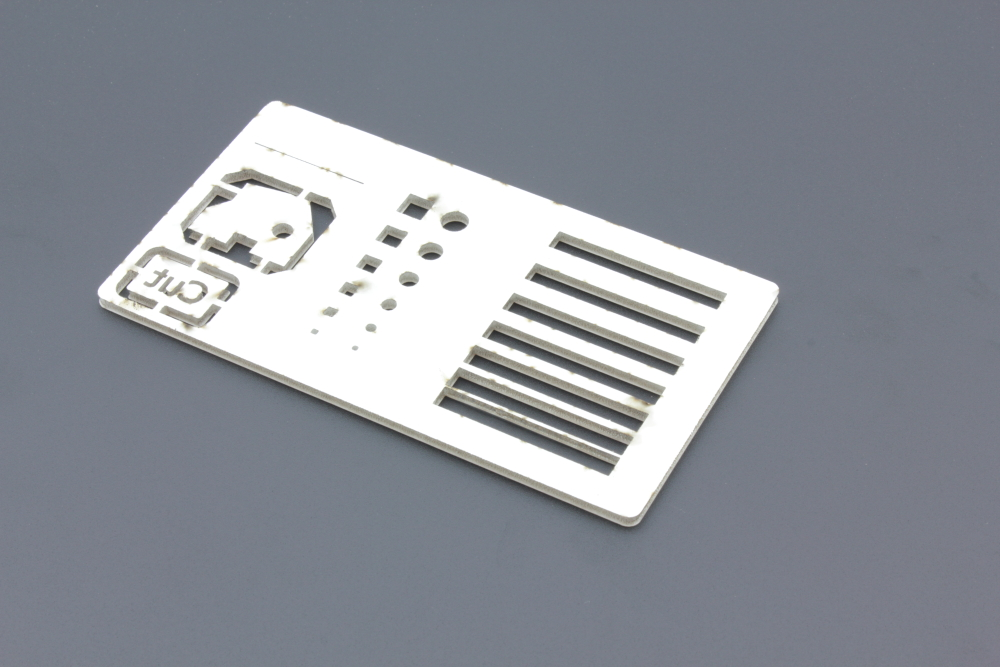 Foam board 3mm - Cut - Backside