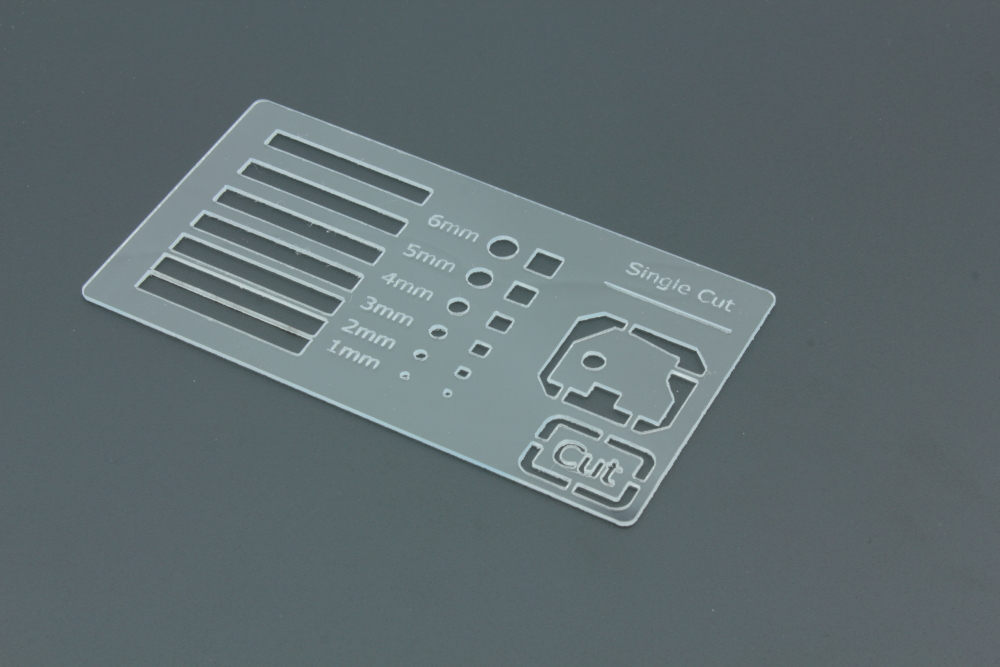 Styrene 1mm Transparent - Front